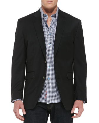 Cicero 2-Button Jacket, Black
