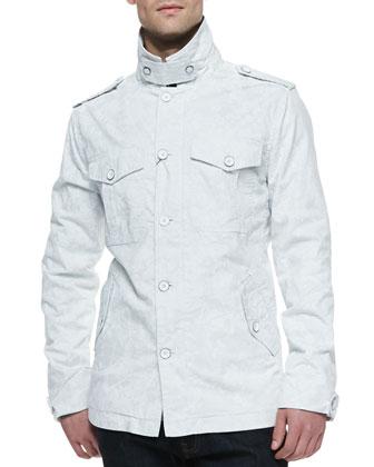 Cam Military Jacket, White