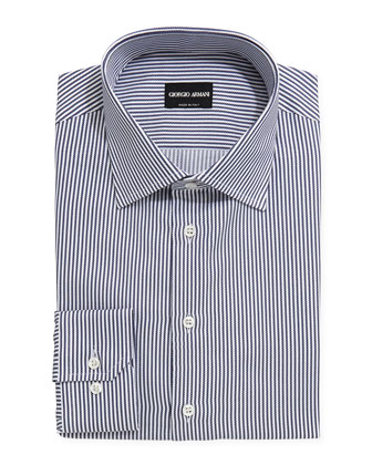 Textured Rope-Stripe Dress Shirt