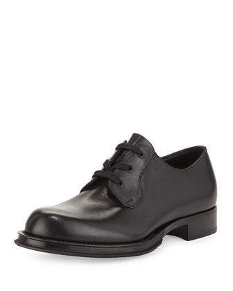 Heavy-Sole Lace-Up Shoe