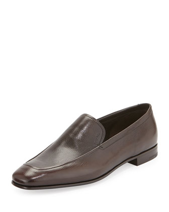Leather Venetian Loafer, Brown