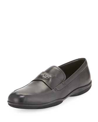 Calfskin Rubber-Sole Loafer