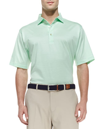 Nena Short-Sleeve Polo Shirt, Green
