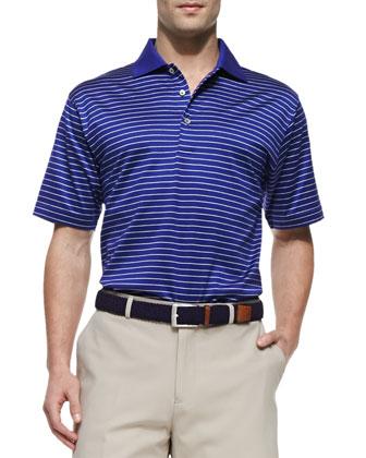 Mercy Stripe Polo Shirt, Blue/White