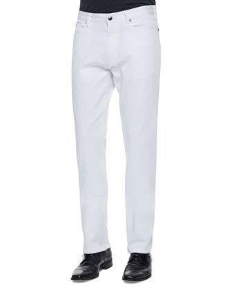 Regular-Fit Denim Jeans, White