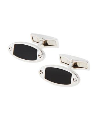 Silver & Onyx Cuff Links