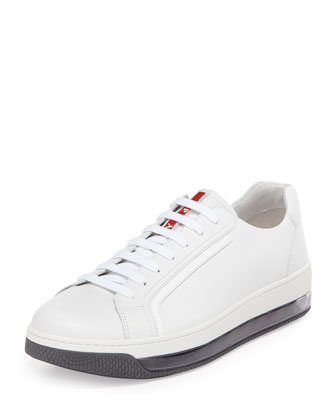 Levitate Leather Sneaker, White