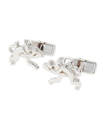 Tweenie Devil Cuff Links, Silver