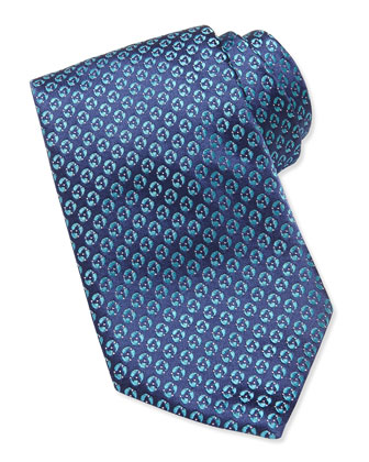 Textured Disc-Neat Tie, Teal