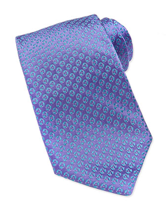 Textured Disc-Neat Tie, Purple