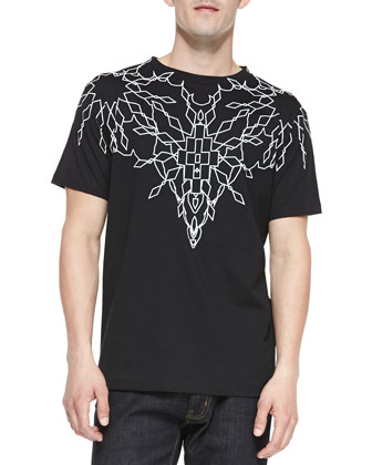 Short-Sleeve Graphic Tee, Black/Ivory
