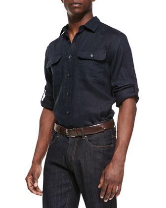 Two-Pocket Linen Shirt