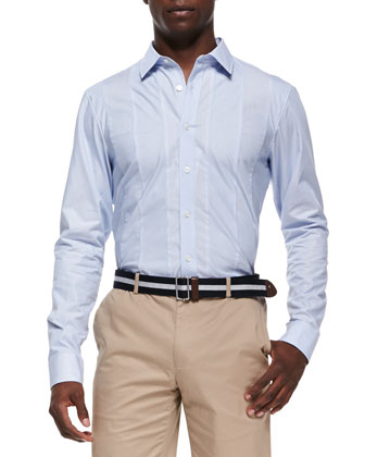 Seam-Stripe Shirt