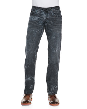 Orlando Wash Navy Marble Denim Jeans