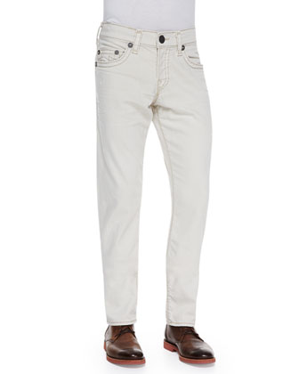 Ricky Natural Straight-Leg Jeans, Ivory Bone