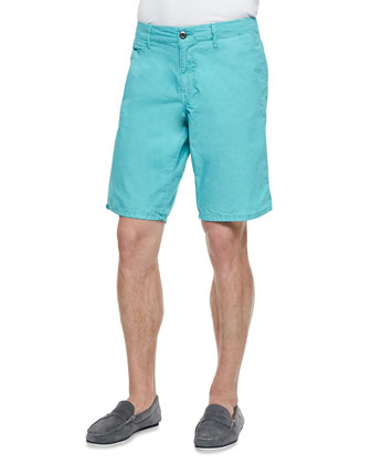 Seaside Cotton Shorts, Aqua