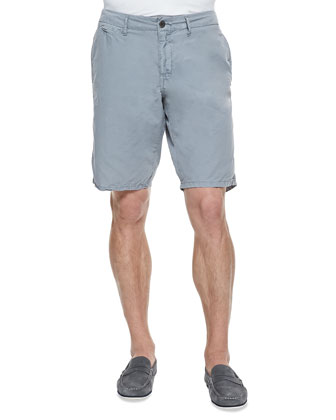 Seaside Cotton Shorts, Light Gray