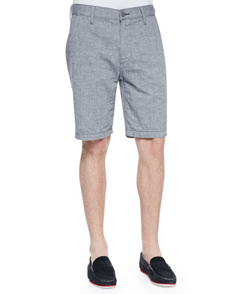 Striped Chino Short, Light Blue