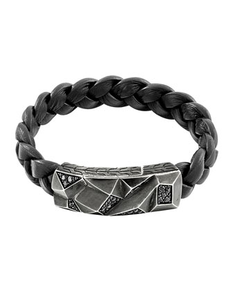 Men's Classic Chain Lava Station Bracelet, Black