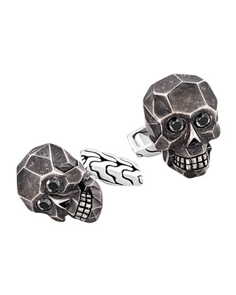 Classic Chain Skull Cuff Links