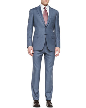Tic Two-Piece Suit, Blue