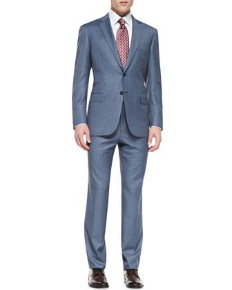 Tic Two-Piece Suit, Blue