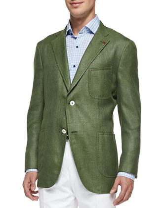 Soft Two-Button Blazer, Sage Green