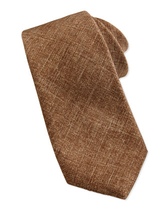 Fivefold Silk Tie, Brown