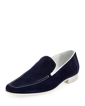 Nor Men's Suede Slip-On Loafer, Navy