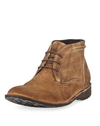 Perforated Suede Chukka Boot, Beige