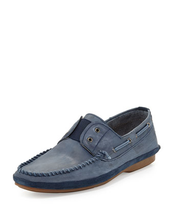Free Laceless Boat Shoe, Blue