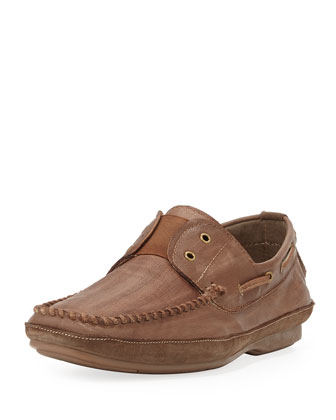 Free Laceless Boat Shoe, Brown