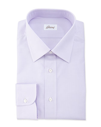 Textured Striped Dress Shirt, Lavender