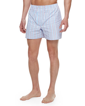 Stowe Striped Boxer Shorts, Blue