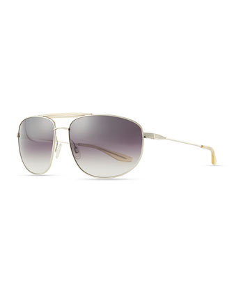 Libertine Aviator Sunglasses, Silver