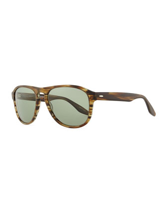 Rocco Teardrop Sunglasses, Green