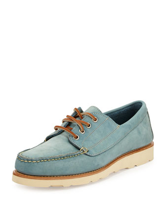 Bremen Nubuck Boat Shoe, Light Blue