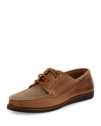 Falmouth USA II Boat Shoe, Natural/Dark Oak