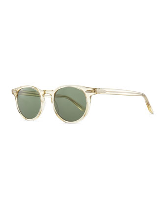 Banks 48 Round Sunglasses, Clear