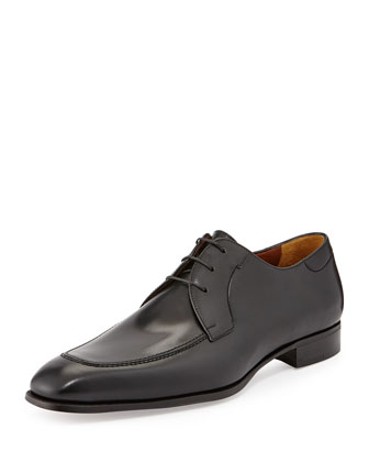Lux Calfskin Derby Shoe, Black