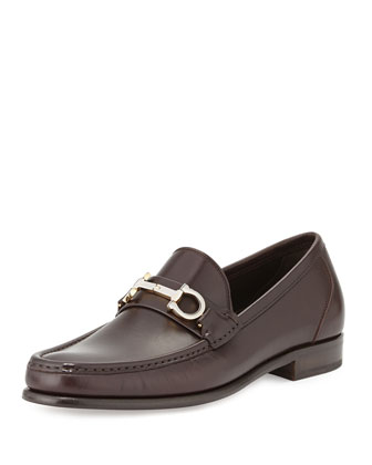 Twirl Rotating Bit Leather Loafer, Brown