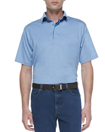 1x1 Polo Shirt, Bright Blue