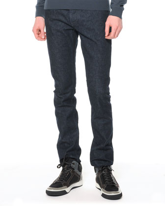 Slim 5-Pocket Jeans, Dark Indigo