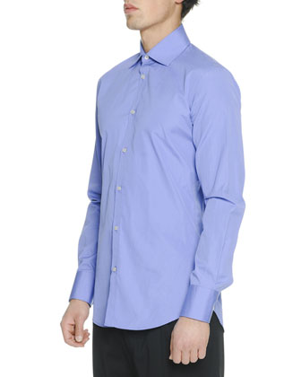 Stretch Poplin Long-Sleeve Shirt