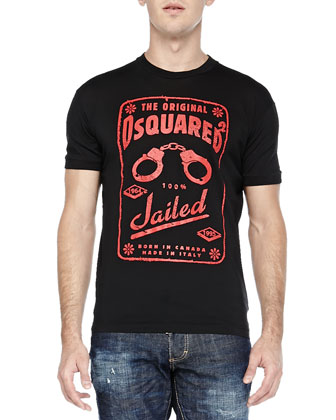Original DSquared2 Jailed Tee & Med Indigo Slim-Leg Denim Jeans