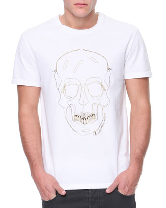 Skull & Grill Outline Jersey Tee