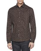 Leopard-Print Slim-Fit Shirt