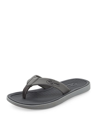 Men's Rubber Flip-Flop Sandal, Gray