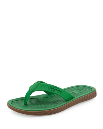 Men's Rubber Flip-Flop Sandal, Green