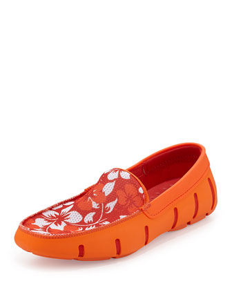 Floral Water-Resistant Loafer, Orange